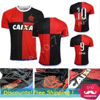 Wholesale Camisa Flamengo Jersey Chandal Flamengo Jersey Brasil Flemish Away ZICO ELANO HERNANE Soccer Jerseys nd Uniform
