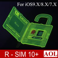 Wholesale Newest R SIM RSIM rsim10 puls unlock card for iphone s plus s IOS7 X X AT T T mobile Sprint WCDMA GSM CDMA