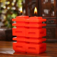Wholesale Wedding essential wedding supplies wedding gift ideas red double happiness candle to candle candle in return