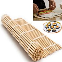 bamboo sheet material - Sushi Tools DIY Sushi Rolling Roller Mat Maker Bamboo Material Home Kitchen Tools Gadgets sushi rolls wrapped by dry seaweed sheets Easy Use