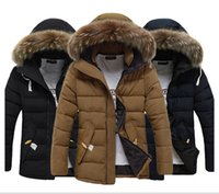 zipper hooded jacket - Winter Men s Coat Hooded Thick Outwear Thermal Overcoat Jacket Zipper