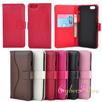 Wholesale For iphone Plus inch Wallet Genuine Real Cowhide Leather Case With Credit Card Holder Cover for iphone6