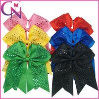 dot ribbon - Ladies Women Girls inch Sequin Hair Bow Cheer Hair Bow Hair Bows hairbands Rib ribbon Hairbows Hair bows