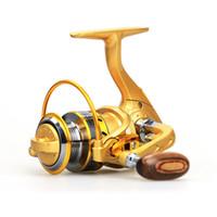 sheet metal - Fishing Reels Mini Spinning Reel Carretilha Pesca BMW150 BB Metal Folding Rocker Rock Telescopic Fishing Tackle