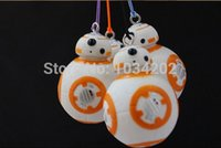 Wholesale 50 gros CM Star Wars The Force éveille BB8 BB Droid Robot Action Figure PVC pendentif