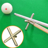 Wholesale 2015 Combo Metal Pool Snooker Billiards Table Cue Brass Cross Spider Holder Rests order lt no track