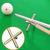 Wholesale 2015 Combo Metal Pool Snooker Billiards Table Cue Brass Cross Spider Holder Rests order lt no track