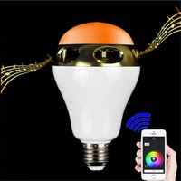 Wholesale Bluetooth Control Mini Smart LED Bulb Music Audio Speaker W E27 RGB Light Lamp