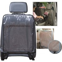 auto pvc mat - 2 Colors Free size Universal Auto Car seat back protector Cover Children Kick Mat Mud Scratch resistant pad
