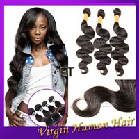 Wholesale Brazilian Body Wave Hair Weaves A Quality Virgin Human Hair Extensions Peruvian Malaysian Indian Cambodian Human Hair Weaves Double Weft