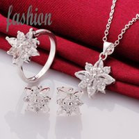 Wholesale New Design Silver Jewerly Set Cheap Bridal Party sets Hot Sale SMTS747