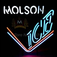 beer signs canada - VINTAGE MOLSON ICE CANADA BEER NEON SIGN RARE COLOR LIGHT MAN CAVE BAR quot x21 quot Chicago Blackhawks Neon Sign