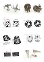 Wholesale 500pcs fashion designs star Wars Cufflinks Cuff Links Cartoon Jedi Knight Darth Vader Novelty Cufflinks Jewelry Cuff Links D526