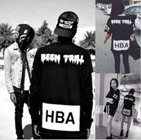 Cheap New Men's Hood By Air Long Sleeve Tee Shirts Man HBA Hip Hop t-shirts Been Trill Printed tshirts Men Camisetas Clothing free shipping