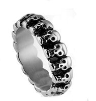 Wholesale Stainless Steel Ring Skull Ring Man Ring Retro Ring Fashion Personality Ring