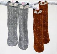 baby photo socks - 1 Photo New kids knee high fox sock children middle socks footwear animal baby leg warmers girl legging socks