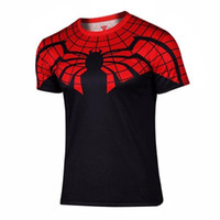 Wholesale Batman Spiderman Venom Ironman Superman Captain America X man Punisher Marvel Compression T shirt Avengers Superhero mens