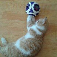 Wholesale Big Six Holes Sisal Ball Dog Cat Toys Pet Balls Products diameter cm CWYP020