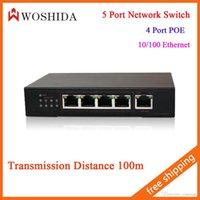 Wholesale 4 Port POE Ethernet Port Network Switch V A Transmission Distance M