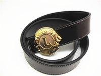 Wholesale New Arrival Mens Metal Buckle Brand Designer Leather Belts For Business Men Luxury Gift For Man