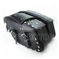 Wholesale universal motorcycle Black Leather Side Bag Solo Bag for Honda Kawasaki Yamaha