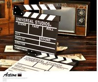 Wholesale photographic Wooden Hollywood Directors Movie Action Scene Clapper Board Black White