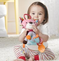 dog stroller - Elephant Cat Dog Monkey Cartoon plush toys Baby Infant Gear Stroller Baby Toy Development Toy Doll