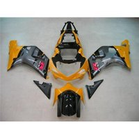 Wholesale ABS Fairing Kit For SUZUKI GSX R750 Year GSX R600 R750 Yellow Black Gray Custom Motorbike Bodywork Fashion Style Cowling