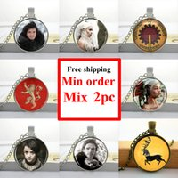 american houses pictures - NS Game of Thrones Necklace House of Stark Jewelry Glass Cabochon Dome Pendant Picture Necklace