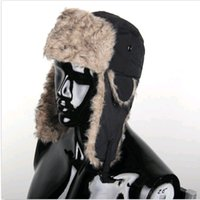 bomber hat - Christmas Gift New Mens Warmer Hat Earflap Russian Trapper Hats Trooper Bomber Winter Snow Ski Hat Cap DH04