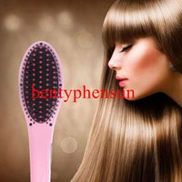 electric comb - MOQ PC Professional Antomatic LCD Hair Straightener Comb Styling Machine Digital Perm Brush Electric Hair Straightening Comb