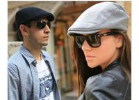 advance hats - Men Female Vintage Flat Peaked Gatsby Cap Unisex Casual Advanced Cap Outdoor Sports Caps Sun Thick Brim Hats Berets