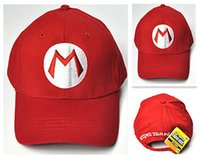 baseball halloween costumes kids - S Super Mario Bros Adult Kids Costume Hat Anime Cosplay Red Mario Cap Baseball cap