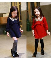 active dolls - New cute girl Doll brought collar autumn dress princess fashion girl korean pure cotton dress