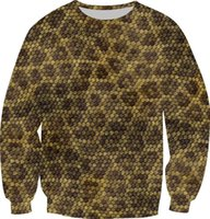 animal skin printed fleece - w151231 Size XS XL New Autumn D Sweatshirt Women Men Fleece Warm Hoodies Snake skin Print Creative Animal Pullovers Tops Crewneck