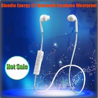 Wholesale Bluedio Energy S2 Bluetooth Sports Headset V4 Bluetooth Earphone Sweat Proof Stereo Earbuds Built in Microphone Headset Free DHL Shipping