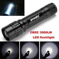 Wholesale 3 Modes CREE XML T6 LED Flashlight Torch Lamp Powerful Bright neon signs