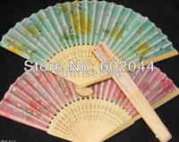 Wholesale Hot sale Handcraft Asian Chinese Silk folding Bamboo Fans