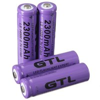 Wholesale 4pcs V mAh AA Li ion Rechargeable Battery For Flashlight Torch Purple