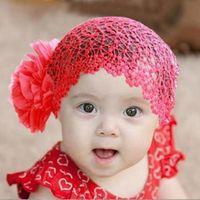 Wholesale 1 Hot Sale Newborn Baby Girl Kids Elastic Flower Headband Child Hair Bands Hairband Infant Hair Accessories