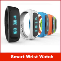 Wholesale Smart Wrist Watch E02 Smartband Waterproof Bluetooth Fitness Tracker Health Bracelet Sports Wristband Gear Fit For Android IOS