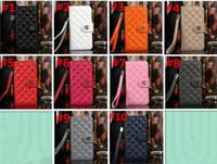 al por mayor diseños cartera iphone-Cuero de lujo de la nueva llegada para iPhone6 6S más diseño del soporte Cuadro de la foto del estilo Caja del cuero del caso de la cubierta del bolso del teléfono con el sostenedor de 2 tarjetas