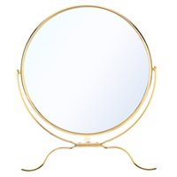 double vanity - ANSELF Inch x Magnification Makeup Mirror Rotating Double Dual Side Cosmetic Vanity Golden Stand Mirror