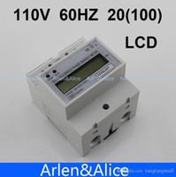 Wholesale 20 A V HZ DDS238 Single phase Din rail KWH Watt hour din rail energy meter LCD