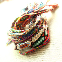 flower bracelet - Fashion Vintage Style Random Colors CM Width Cotton Knitted Unisex Friendship Bracelet H53 Summer Bracelets