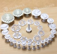 Wholesale 33pcs Plunger Fondant Cutter Cake Tools Cookie Biscuit Cake Mold Mould Craft DIY D Sugarcraft Cake Decorating Tools Flower Free DHL Factory