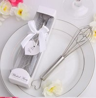 Wholesale Stainless Steel Heart Shape Hand Whisk Egg Beater for guests wedding favors and gifts