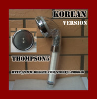 Wholesale Korea vesion Negative Ion Pressurize SPA Shower Head Can Descaling Softening Water Toilet filtering high end massage Rain Sprayer Nozzle