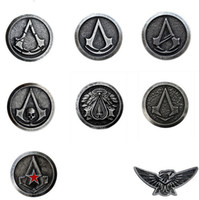 Wholesale High Quality Assassin s Creed Official Pin styles Cosplay Costume Brooch Pin Free Shipp assasins creed cosplay fashion In Stock