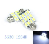 Wholesale 10 x Festoon mm C10W v LED Interior Lighting Bulbs Dome Map Reading Lamp